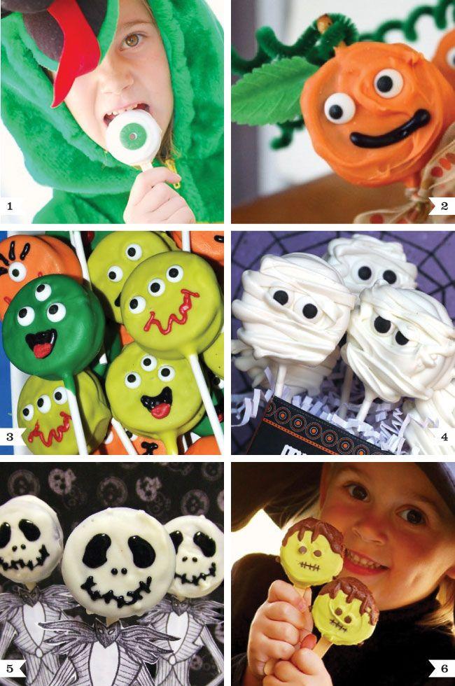 Halloween Oreo pop ideas! #halloween #partyfood #oreopops