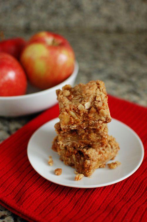 Apple Oat Dulce De Leche Bars | Baked by Rachel