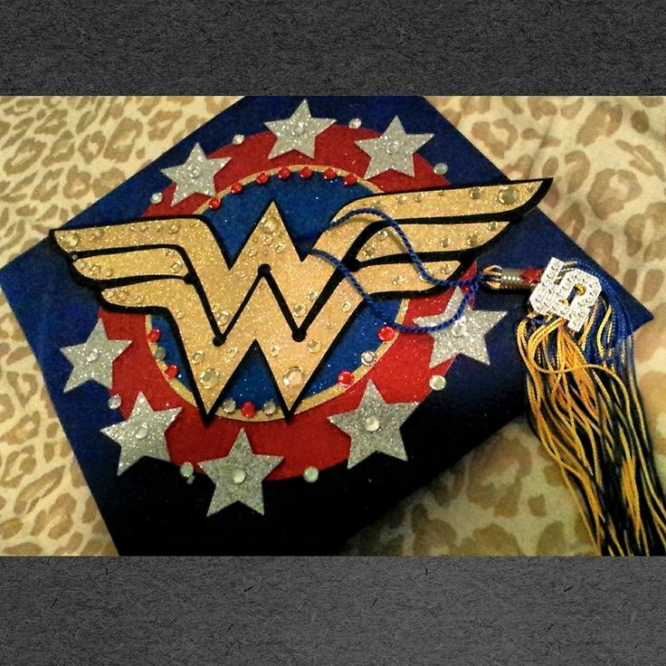 Get Your Grad Cap On! I just wanted to share some pictures and instructions for my adorable Wonder Woman-themed graduation cap. I'm so in love with it, especially after staying up until 3 a.m…