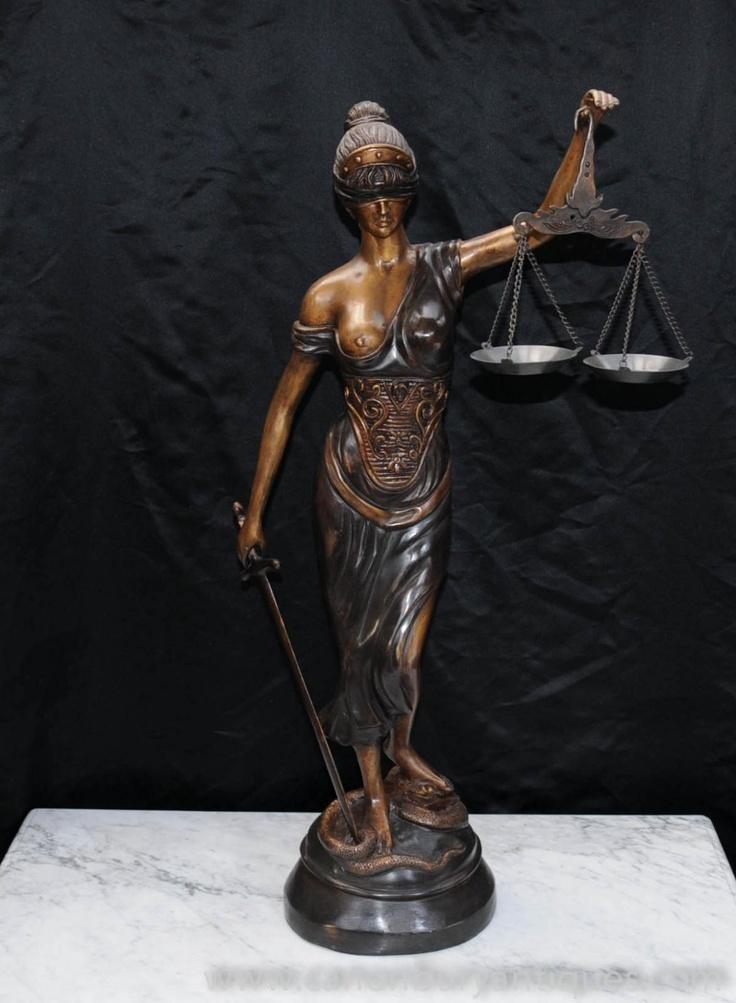 Bronze Casting Lady Justice Statue Blind Figurine Roman ...