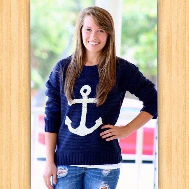⚓️Finally back in stock! Get ready for tonight ladies, these will be a quick sell out! Available at 8pm cst! #sweaterweather #fallfavs #ahoy #anchorsweater #bestseller #toptrends #freeshipping  (at http://www.hazelandolive.com)
