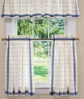 Exceptional Country Curtains Windowpane Plaid Tier Panels In Blue. Love This Fresh Blue  U0026 White Plaid. Too Cute For A Kitchen