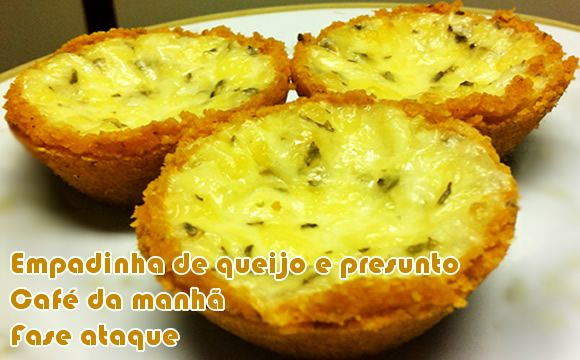 Empadinha dukan de queijo e presunto - Powered by @ultimaterecipe