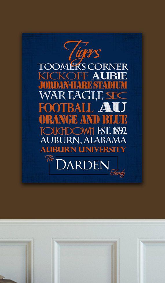 Auburn University Tigers Ready to Hang by SportingStandouts Auburn Alabama!