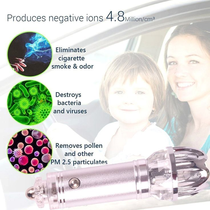Car Air Purifier, Lightsmax Car Air Freshener and Ionic Air Purifier | Remove Dust, Pollen, Smoke and Bad Odors - Available for Your Auto or RV (Large, Blue)