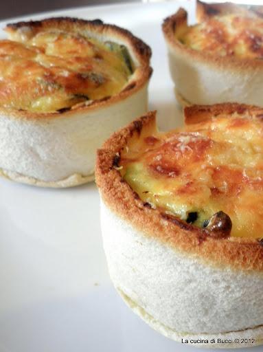 Tortini svuota-frigo di pancarré