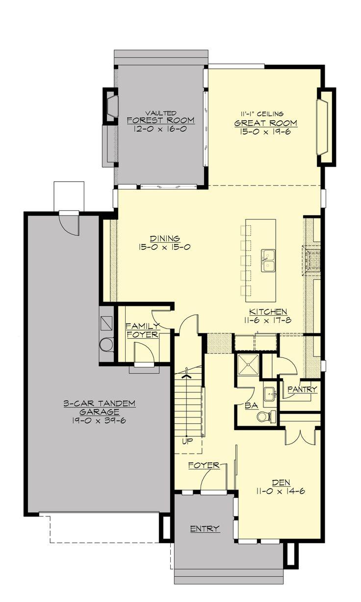 Moderna Y Elegante Casa De 4 Dormitorios Y 2 Pisos Plano
