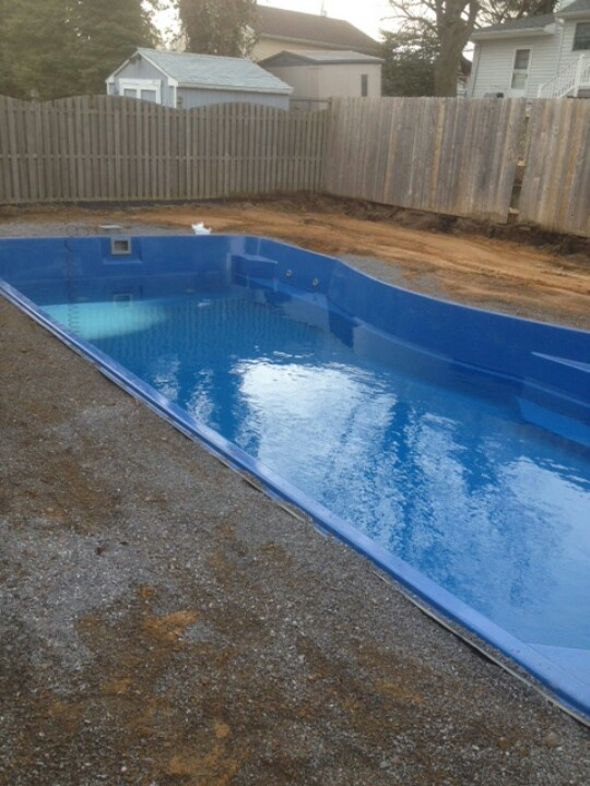 17 best images about fiberglass pool install 3 on for Fiberglass pool installation