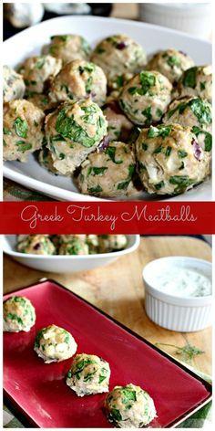 Greek Turkey Meatballs #SundaySupper