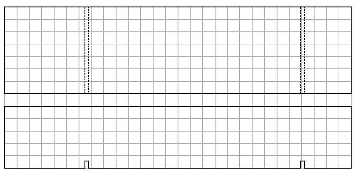 Pinewood Derby car grid template