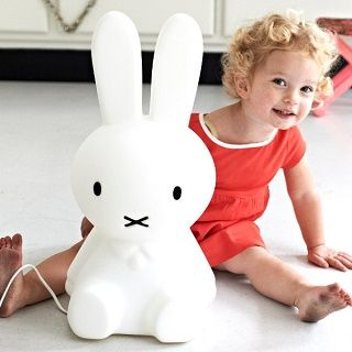 MIFFY SMALL LAMP PRE ORDER (OCTOBER DELIVERY) - $269.95 - Dutch artist Dick Bruna would tell his one year old son stories about a little bunny he had once seen while on holiday in a village off the coast of the North Sea. Hence, Miffy (or nijntie in Dutch) was born. #sweetcreations #shoptheblog #kids #bedroom #decor #lighting #nightlight #miffy #mrmaria