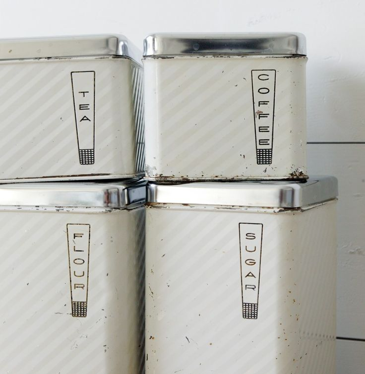 Old Fashioned Canisters. 50s KitchenVintage KitchenKitchen IdeasModern ...