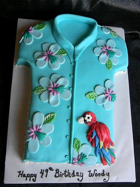 fun Hawaiian shirt cake