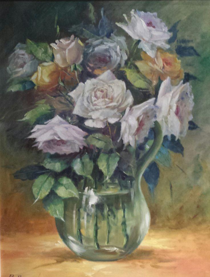 Vaso di rose.   30 x 24