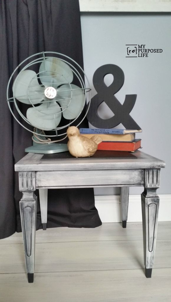 I love this small vintage side table makeover MyRepurposedLife.com Ohhh how sweet!