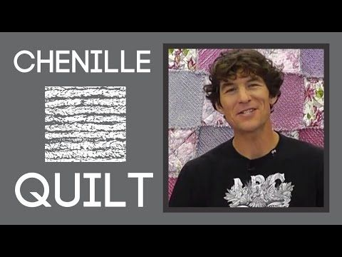 Chenille Quilting: An Easy Quilt Tutorial with Rob Appell of Man Sewing - YouTube