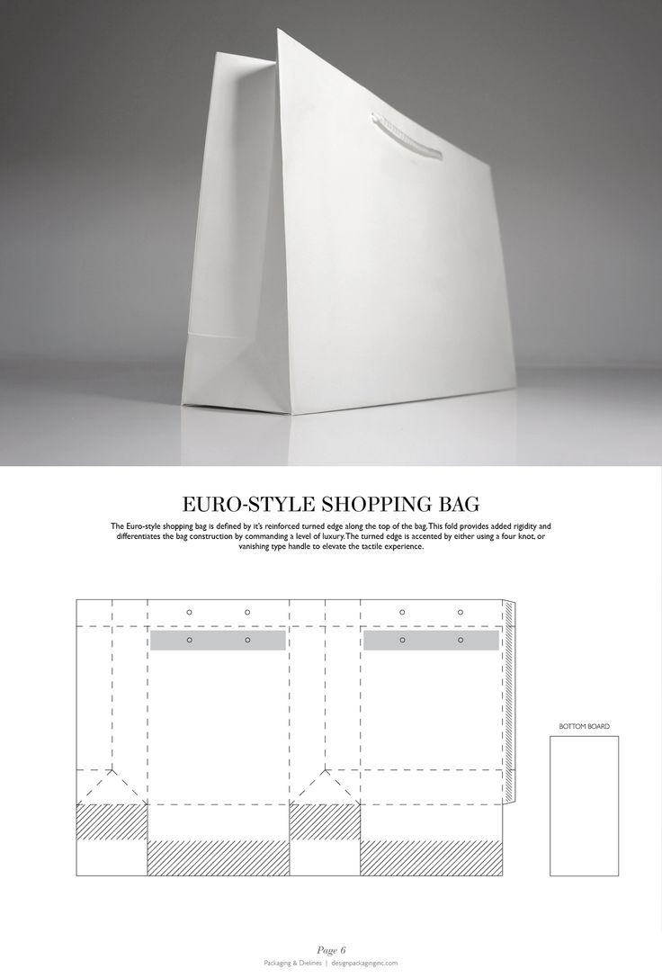 Euro-Style Shopping Bag - Packaging & Dielines: The Designer's Book of Packaging Dielines