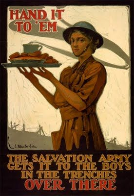 I didn't know till I started researching details in this book how active the Salvation Army was in WWI. Salvation Army poster: Hand it to 'em