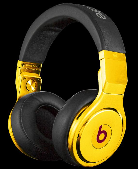 Beats By Dr. Dre Pro Headphones – 24 Karats Gold Plated Edition | By CRYSTAL ROCKED