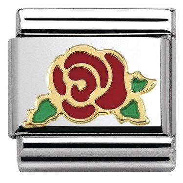 Nomination Red Rose Charm | Argento.co.uk