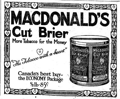 Pioneer & Vintage Advertisements: 1920's Canadian Tobacco and Cigarette ads