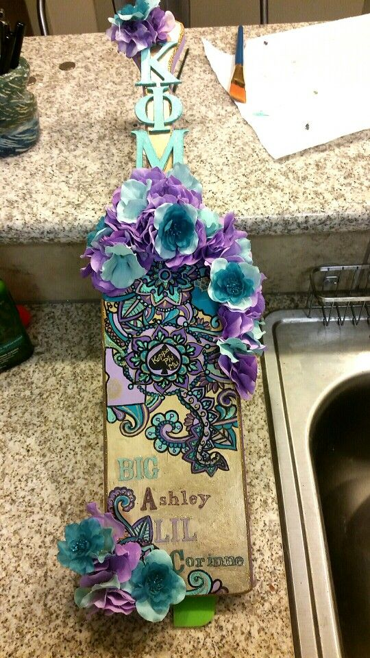My Sorority Paddle That I Made For My Big. It Feature A Lavender Ombre Down