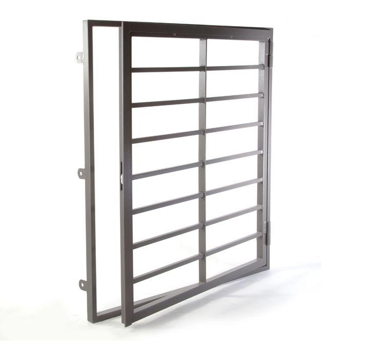 Reja de hierro de seguridad para ventanas. Modelo Abatible.