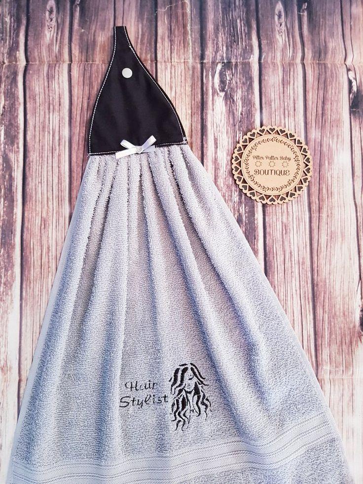 Hand Towel, Hanging Hair stylist Towel, Hair Dresser, Custom Gifts