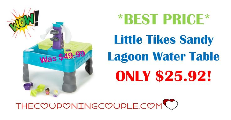 *BEST PRICE* Little Tikes Sandy Lagoon Water Table is ONLY $25.92 (was $49.99)! Water, sand, kids....what a great combination!  Click the link below to get all of the details ► http://www.thecouponingcouple.com/little-tikes-sandy-lagoon-water-table/ #Coupons #Couponing #CouponCommunity  Visit us at http://www.thecouponingcouple.com for more great posts!