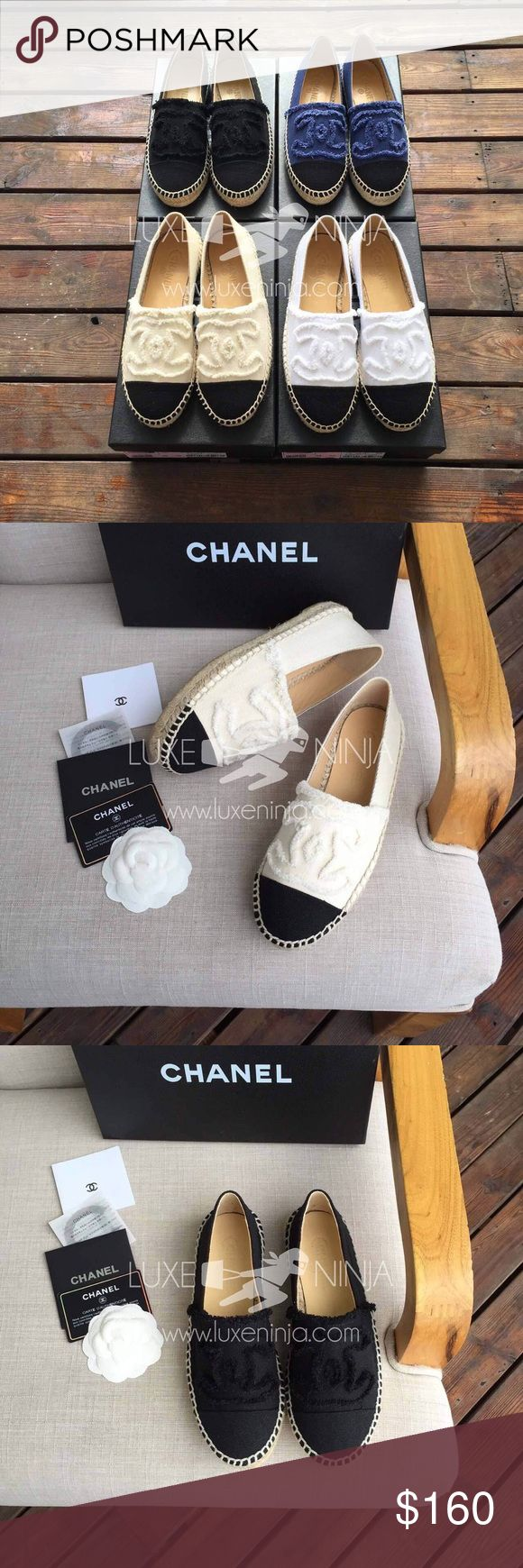 Chanel espadrilles canvas For more info on the items please visit our website LuxeNinja.com  Ship in 7-14 days ✈️ Website price: 160$  CHANEL Shoes Espadrilles