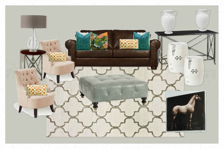 Living Room Brown Couch Mesmerizing Design Review