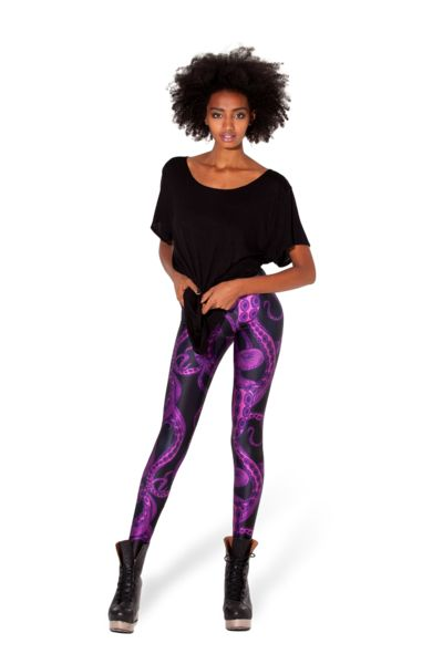 Tentacular Purple Leggings › Black Milk Clothing