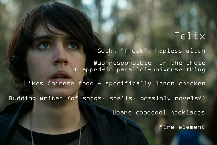 Nowhere Boys season 2 random-fact-profile #11 - Felix