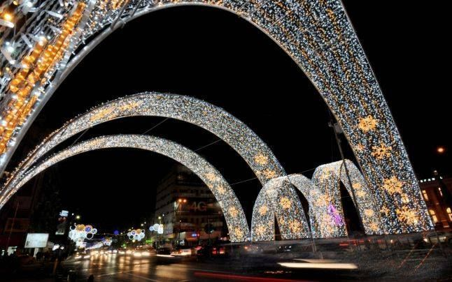 Christmas lights in Bucharest. by Bucuresti Optimist