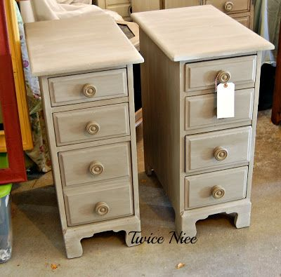 Twice Nice  Repurposed desk drawers into side tables