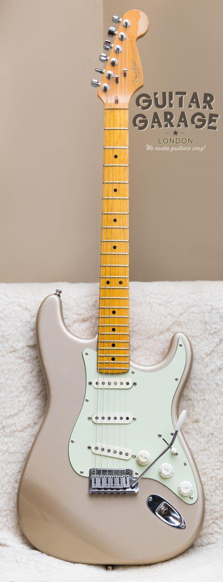 1997 Fender American Standard Stratocaster Shoreline Gold