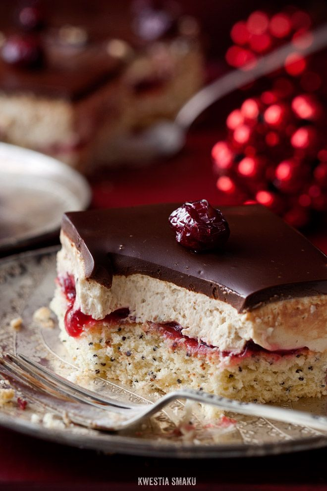 Poppy Seed and Cranberry Slice