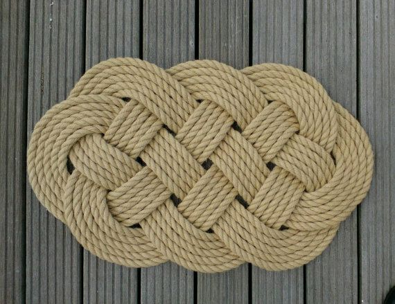 A Nautical Rope Mat That Is Ideal For Doorway Into Your Beach Home Country