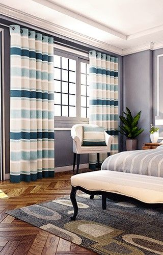 Pimlico - Teal Ready Made Curtains