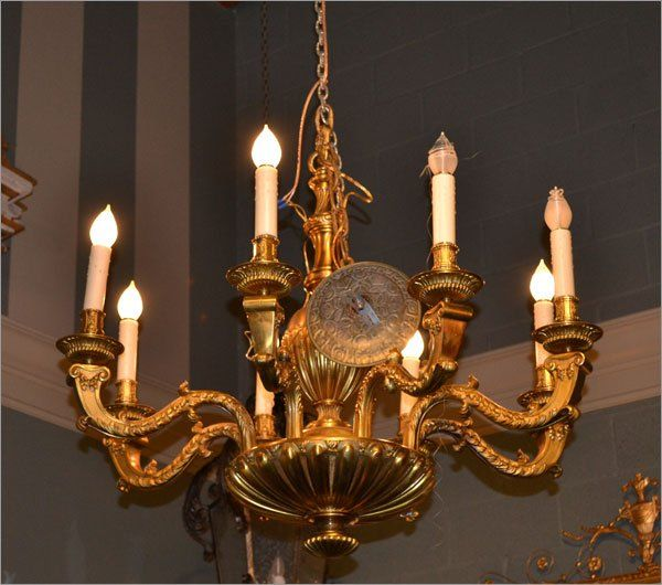 8-Lite Bronze Neoclassic Chandelier $8,400.00. French AntiquesChandeliers Bronze - 30 Best ATELIER ARTS & ANTIQUES Images On Pinterest Workshop