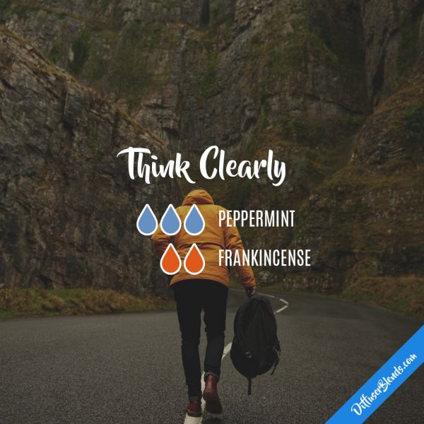 Think Clearly - Essential Oil Diffuser Blend - Peppermint + Frankincense