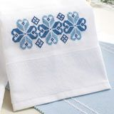 Nordic Blue Towel, from Cross-Stitch & Needlework.