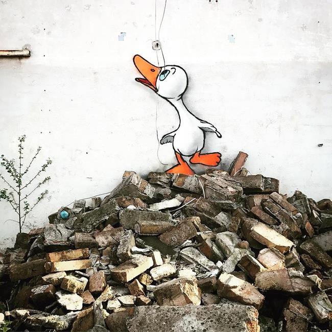 Sokakların Yeni Banksy'si Kenny Random'dan Etkileyici Sokak Sanatı Eserleri Sanatlı Bi Blog 28