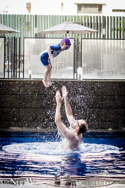 Last week's photo Friday was Soren enjoying his swim in our hotel pool in Singapore. This week it's Astrid's turn.  She loved the pool and being thrown in the air by Dad was pretty much the best game ever! D7000 with Nikon 35mm f1.8GISO 320 focal length 35mmExposure: 1/800 @ f3.2D7000 with Nikon 85m