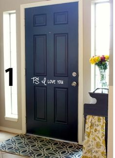 Front Door Vinyl Lettering Inside P S I Love By Hytuesdaysigns Painting Interior