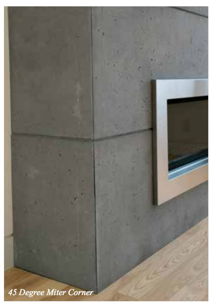 Concrete Lightweight Cladding For Fireplace