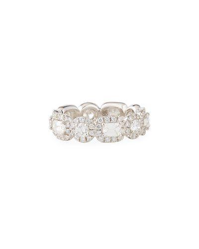 Diana M. Jewels 18k Eternity Diamond Ring, 5.0tcw, Size 6