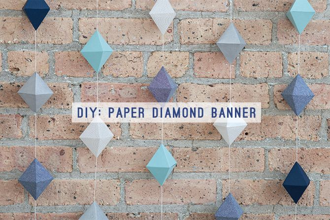 DIY Paper Diamond Banner | Evermore Paper Co.