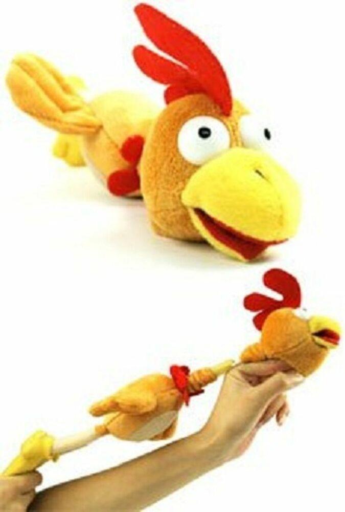 SLINGSHOT FLINGSHOT FLYING CHICKEN TOY w// SOUND flingshot dog rooster sound G20