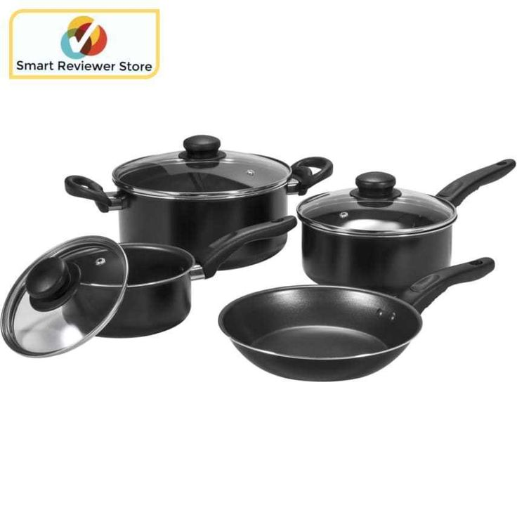 Cookware Set Teflon nonstick 7Piece 1 Dutch oven 1 saute pan 3 lids By Mainstays Mainstays Basic Cookware Set, 7-Piece Home Kitchen Dining Cookware, Bakeware Tools Cookware SetsMainstays Basic Cookware Set, 7-Piece:7-piece set includes: 2 saucepans, 1 Dutch oven, 1 saute pan, 3 lidsDuPont Teflon nonstick roller coating interior for healthy, fat-free cookingRoller painting exterior for easy to cleanDesigned with a comfortable bakelite handle for a confident gripGroove bottom for quick and…